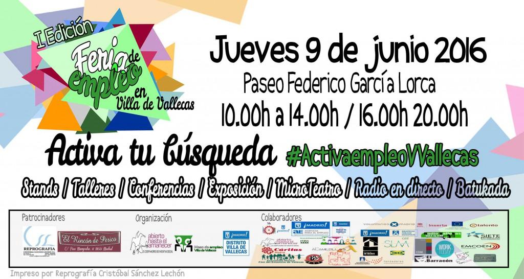 Feria Empleo Villa de Vallecas 2016