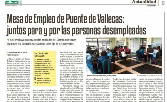 Artículo de Vallecas VA sobre la Mesa de Empleo en Puente de Vallecas